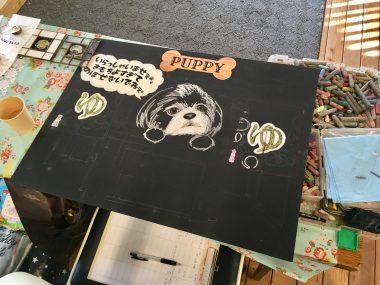 チョークアートとステンドグラスのイベント@ささやカフェ ビションフリーゼ おもち  0E15B93A-D9B7-43F8-A488-B75E09B96B3A-380x285