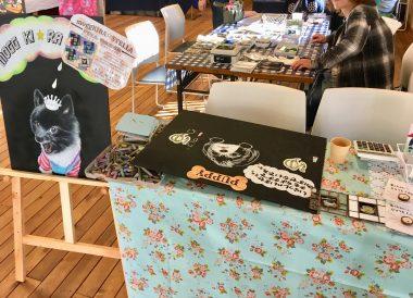 チョークアートとステンドグラスのイベント@ささやカフェ ビションフリーゼ おもち  D2220271-B996-45AE-910A-2F3E4B2CF41B-380x274